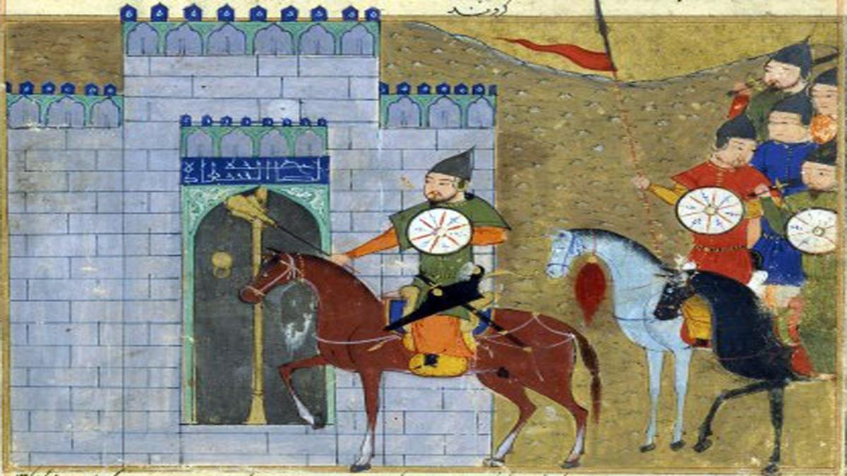 Cengiz Han'ın Pekin'e girişi. Reşîdüddîn'in Cami'üt-Tevarih adlı eserinden. Kaynak: Wikimedia Commons'tan Özgür medya deposu