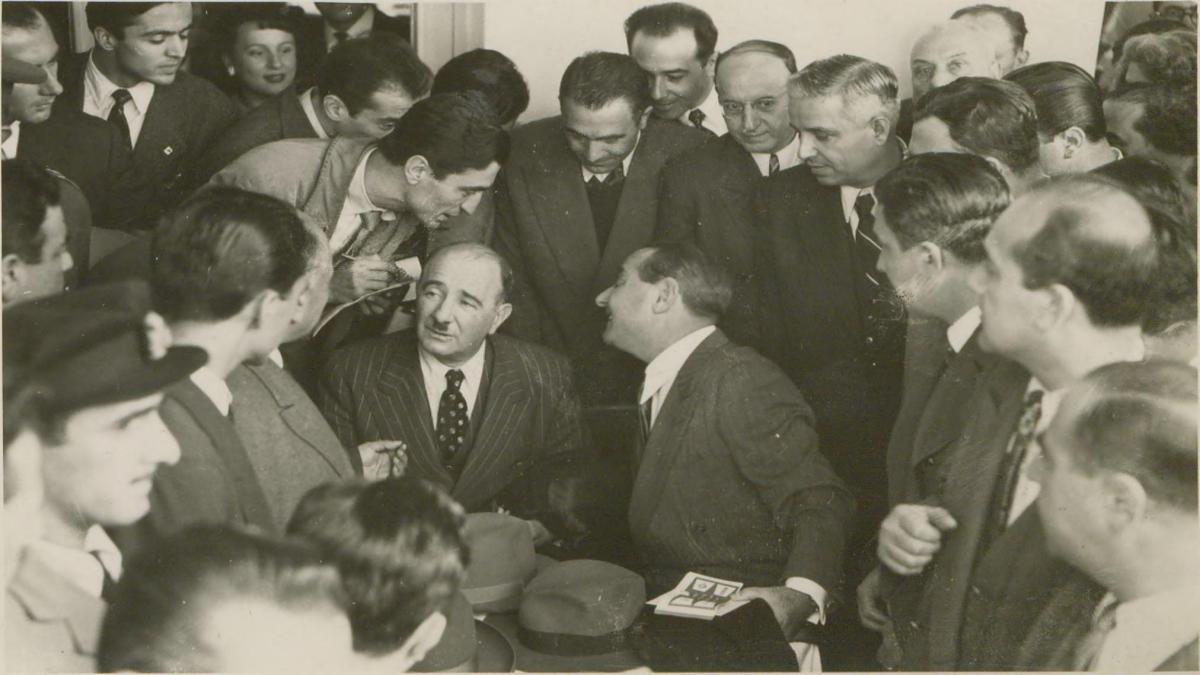 Fuat Köprülü'nün aralarında bulunduğu fotoğraf Kaynak: İstanbul Şehir Üniversitesi Arşivi