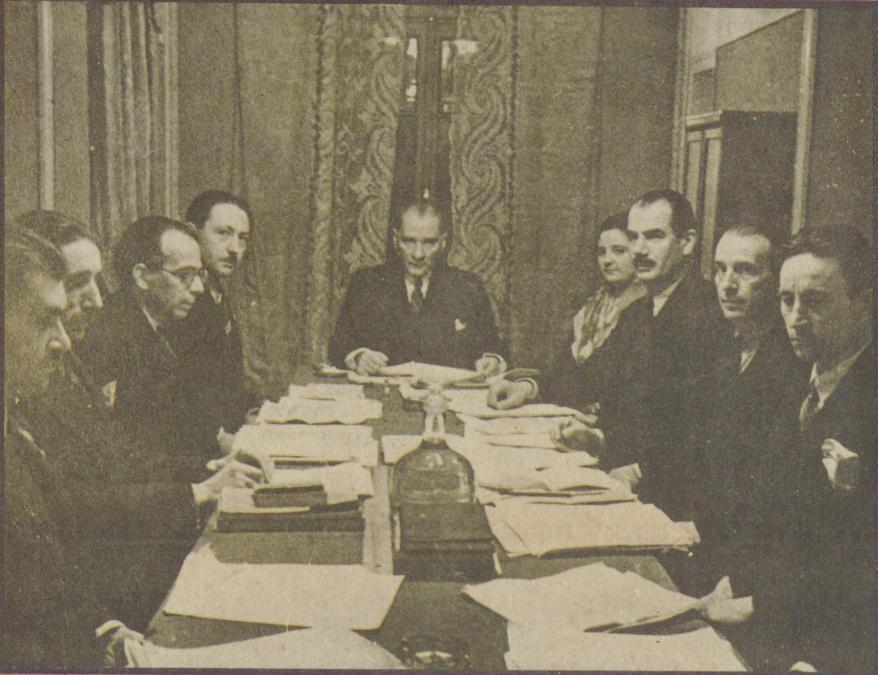 TDTC Umumi Merkez Heyeti toplantısı 04-01-1933 Kaynak: İstanbul Şehir Üniversitesi Arşivi