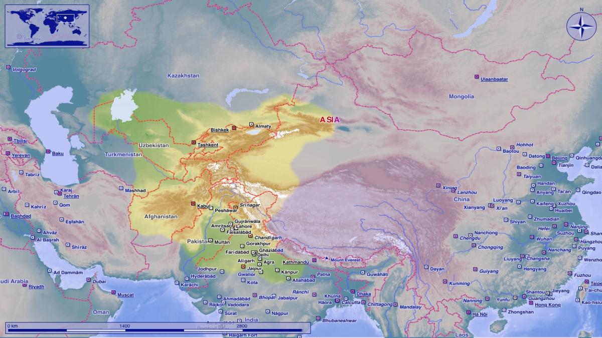 Ak Hun İmpratorluğunun sınırları -  Postmann Michael - Kaynak: