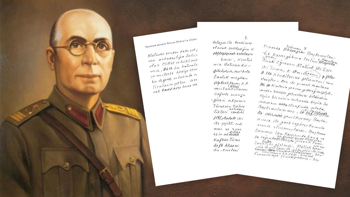 Kazım Orbay - Atatürk'e ait iki hatıra