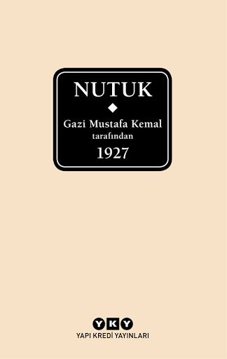 Nutuk kitap kapağı, Mustafa Kemal Atatürk