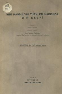İbni Hassul'ün Türkler hakkında bir eseri