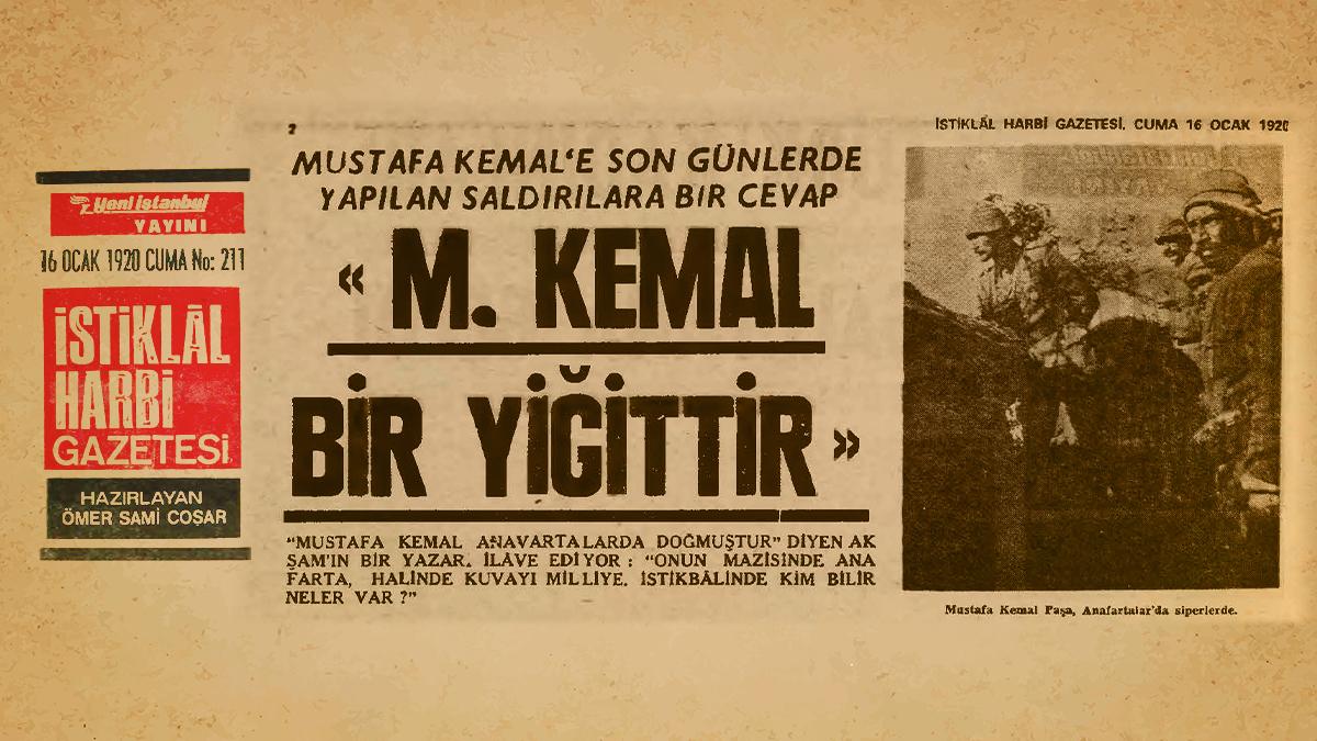 Milli Mücadele İstiklal Harbi Gazetesi, 16 Ocak 1920 Cuma, No: 211, s. 2