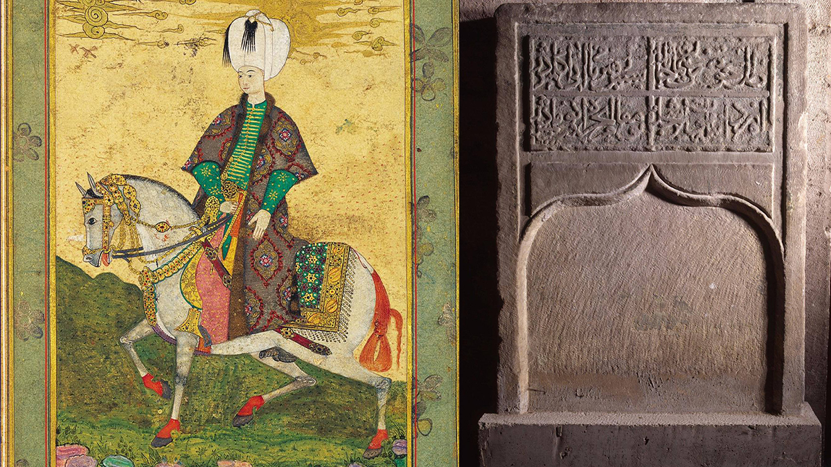 Sultan II. Osman ve atı Süslü Kır'ın mezar kitabesi. Kaynak: Topkapı Sarayı arşivi
