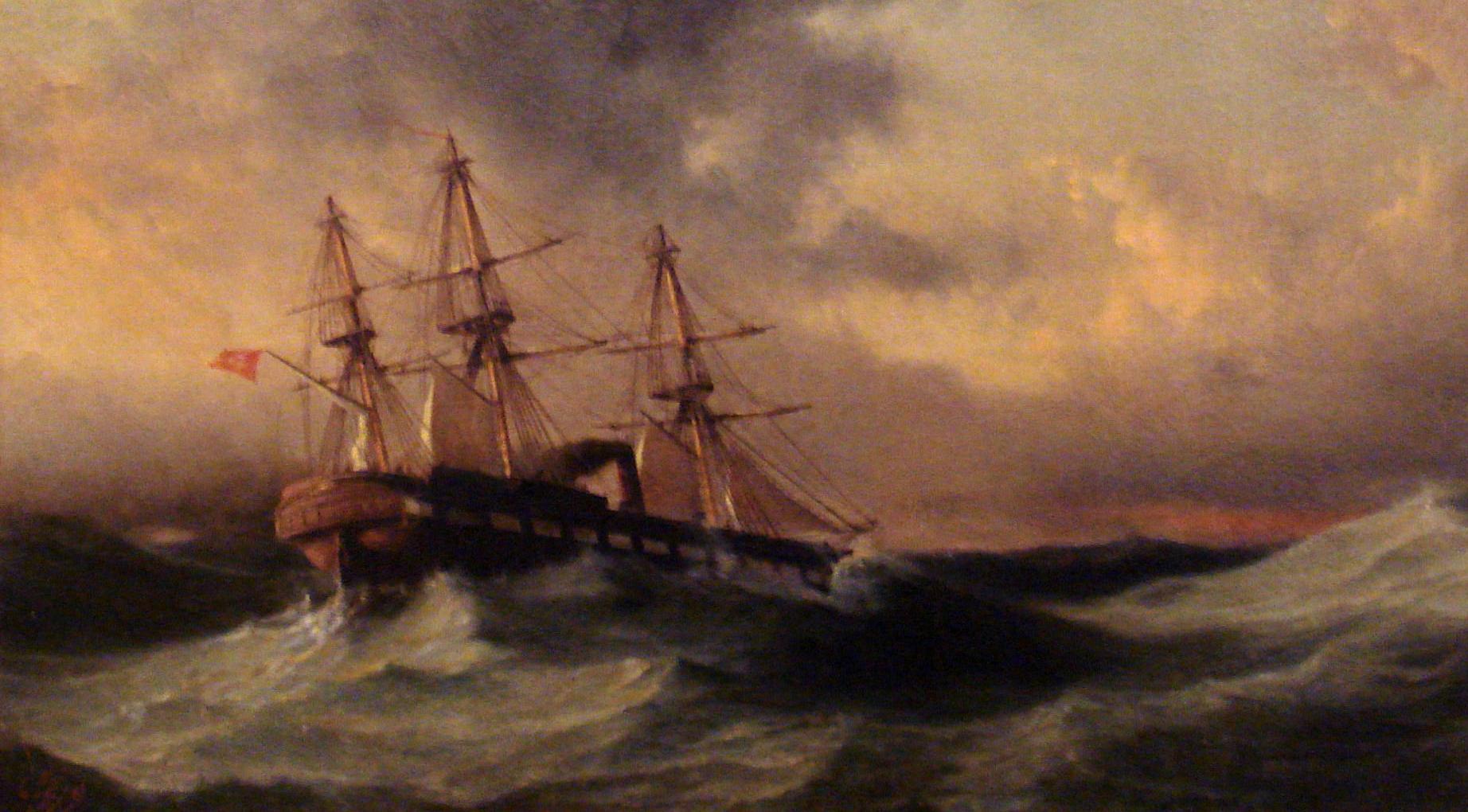 Voyage of frigate Ertuğrul to Japan, commanded by Mirliva Osman Pasha (1858-1890) Kaynak: Wikimedia Commons'tan Özgür medya deposu