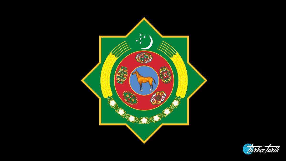 Türkmenistan armasındaki Ahal Teke - Kaynak: Wikimedia Commons'tan Özgür medya deposu