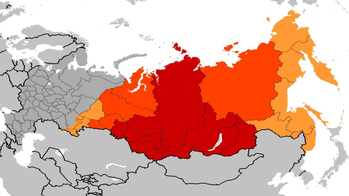 Sibirya Federal Bölgesi. Kaynak: Wikimedia Commons'tan Özgür medya deposu