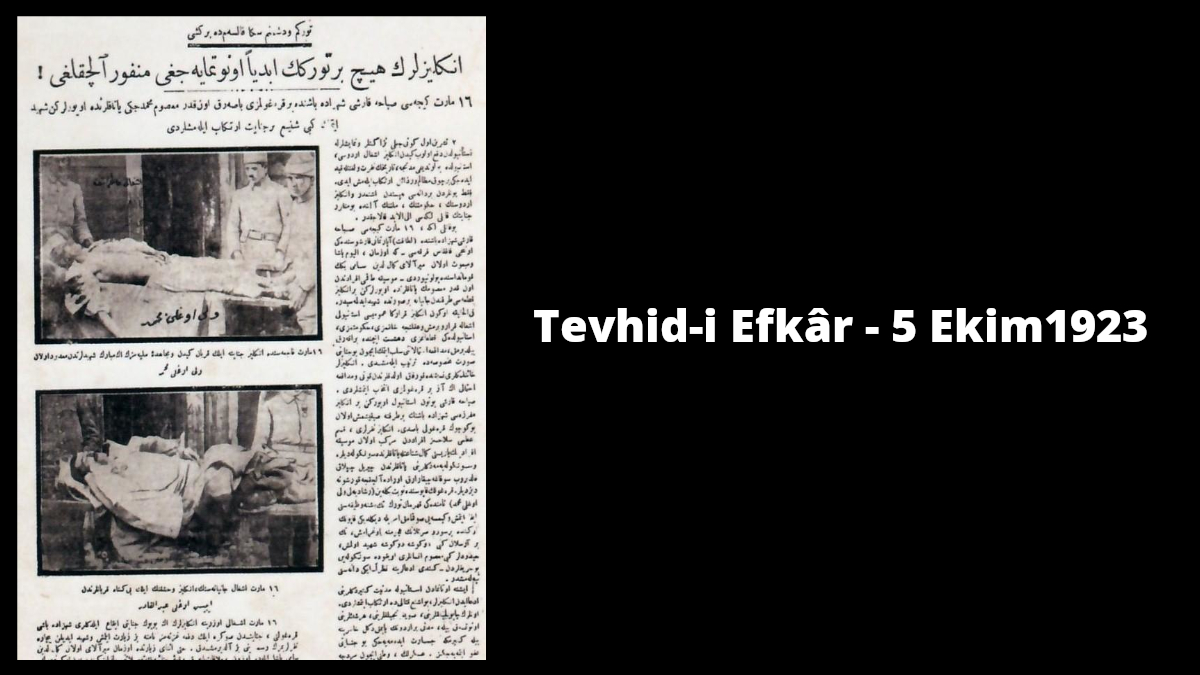 Tevhid-i Efkâr-5 Ekim1923