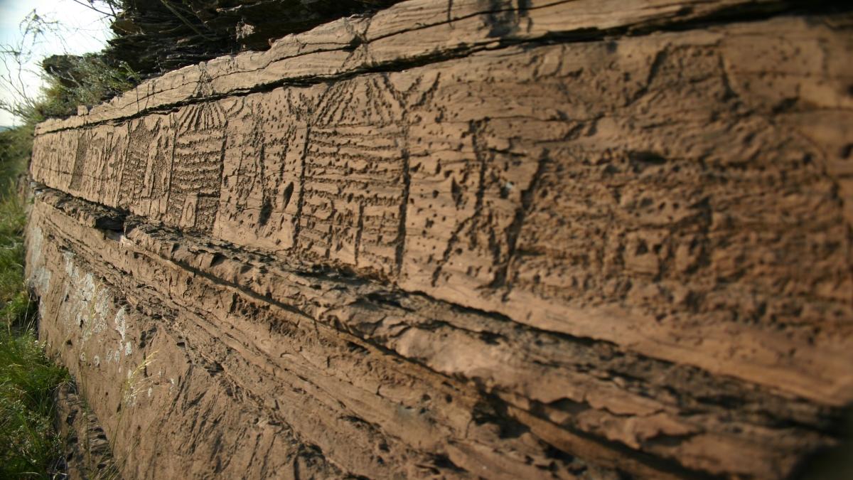Tagar Kültürüne ait bir petroglif - Евгений Палецкий - Yükleyenin kendi çalışması, CC BY-SA 3.0 - Kaynak: Wikimedia Commons'tan Özgür medya deposu
